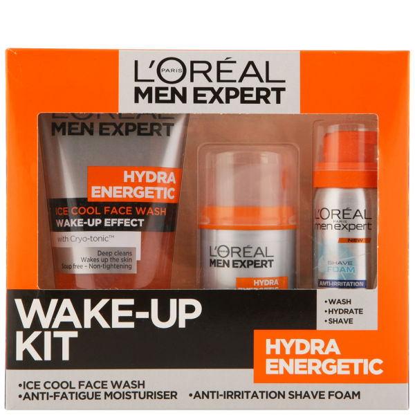 l 39 oreal paris men expert hydra energetic skin wake up kit 3 products free shipping. Black Bedroom Furniture Sets. Home Design Ideas