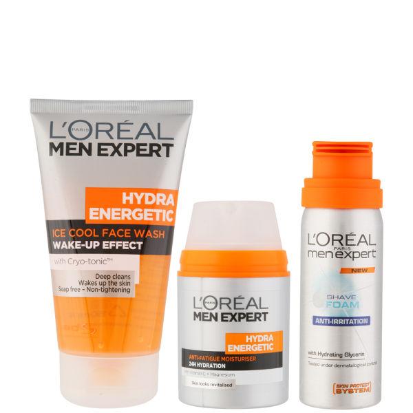 L'Oreal Paris Men Expert Hydra Energetic Skin Wake-Up Kit (3 ...