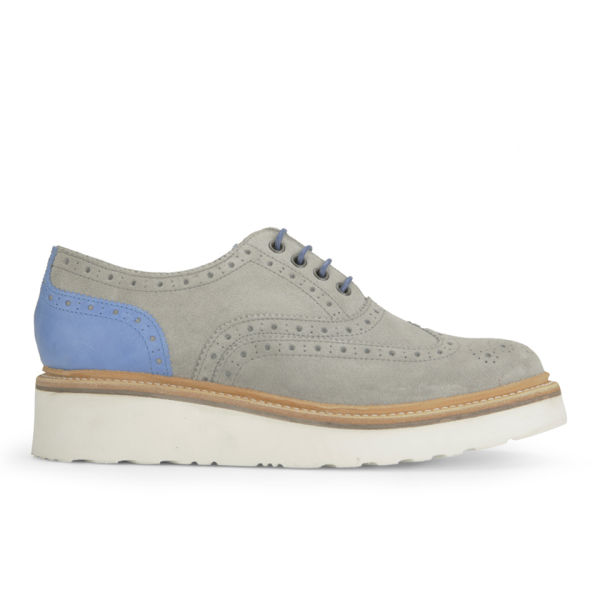 Grenson Women's Emily Suede Brogues - Grey