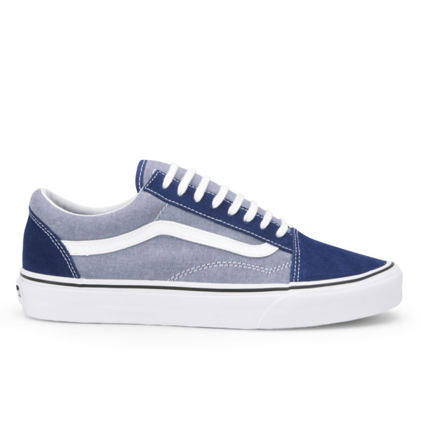 c6b4094714 Vans Men s Old Skool Suede   Chambray Trainers - Estate Blue  Image 1