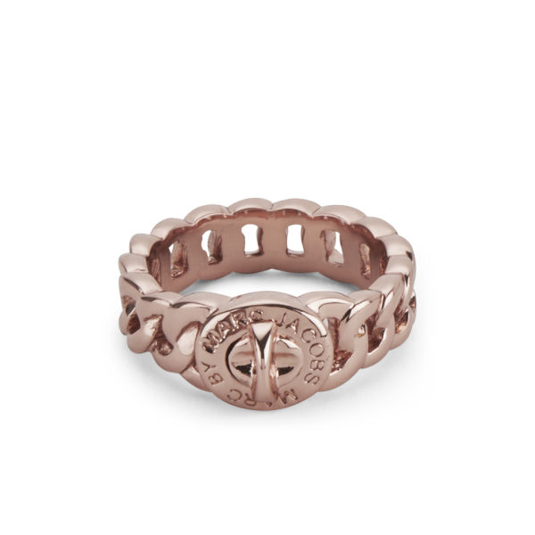 Marc by Marc Jacobs Small Katie Chunky Chain Ring - Rose Gold