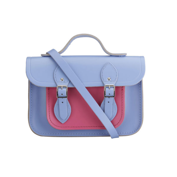 The Cambridge Satchel Company 11 Inch Classic Leather Satchel - Bellflower Blue/Orchid