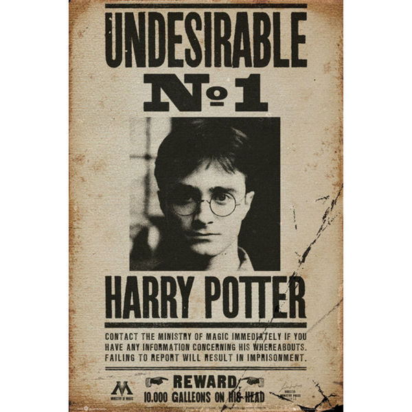 Harry Potter Undesirable No 1 - Maxi Poster - 61 x 91.5cm