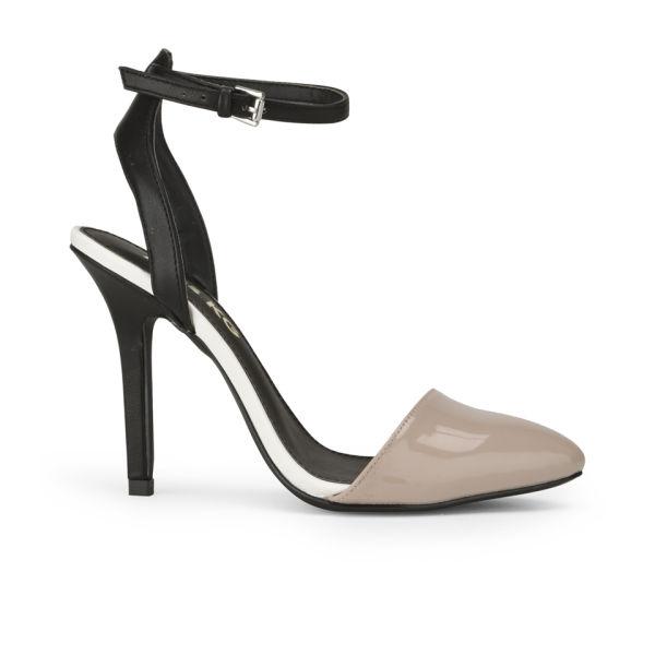 Miss KG Women's Alba Pointed Toe Heeled Sandals - Black/Nude