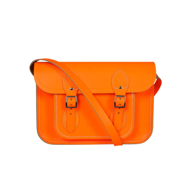 The Cambridge Satchel Company 11 Inch Fluoro Leather Satchel - Fluorescent Orange