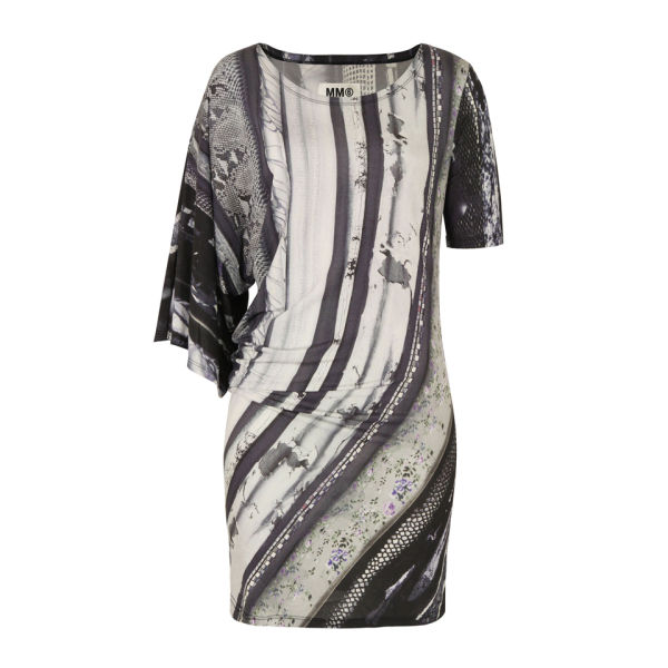 MM6 Maison Martin Margiela Women's S32CT0445 S21505 Archive Print Dress - Multi