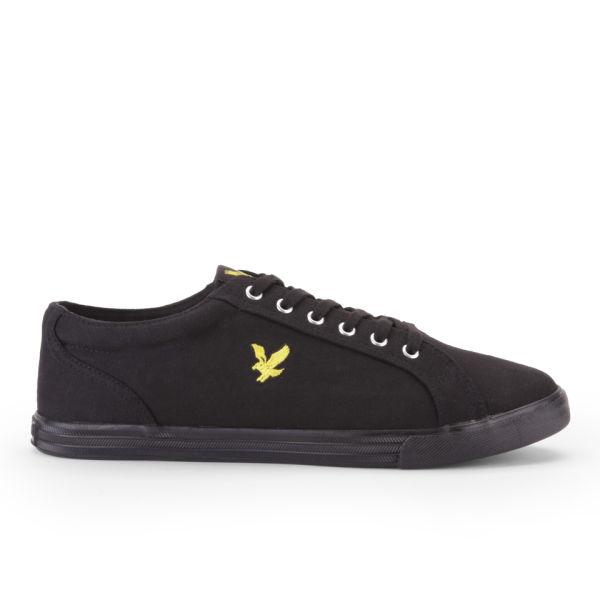 Lyle   Scott Men s Halket Canvas Trainers - Black Mens Footwear ... 3b7509ae5