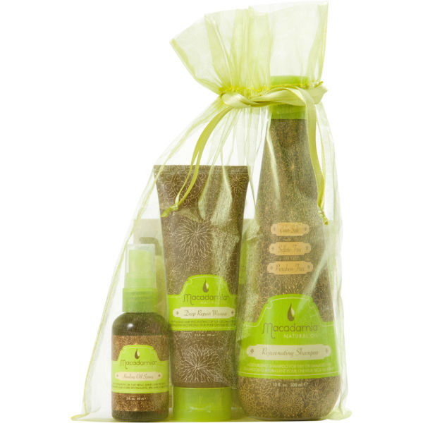 Macadamia Natural Oil Original Heroes Trio Shampoo 300ml, Deep Repair Masque 100ml, Healing Oil Spray 60ml (Worth £43.40)