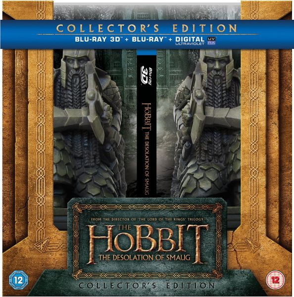 The hobbit the desolation of smaug 3d bookend blu ray - Hobbit book ends ...