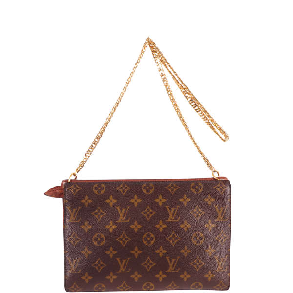 Louis Vuitton Vintage Chain Handle Leather Shoulder Bag