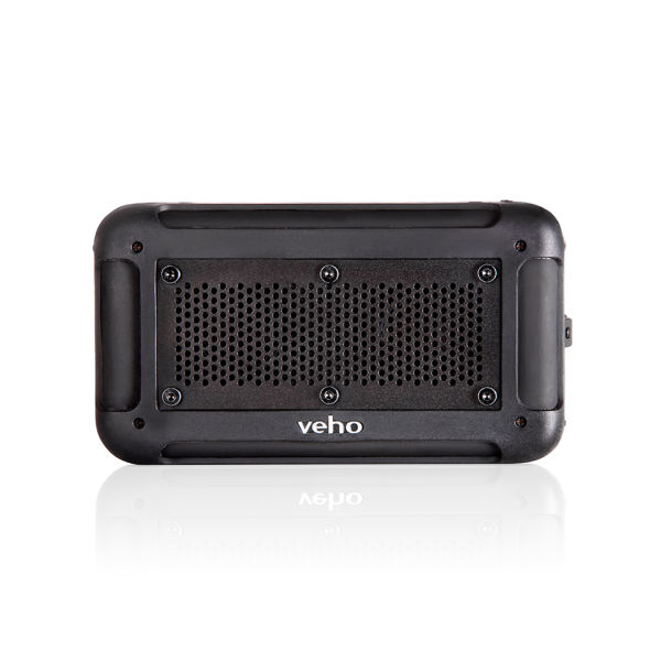 Veho Vecto Water Resistant Wireless Speaker with Integrated 6000mah Phone/Tablet Charger - Black