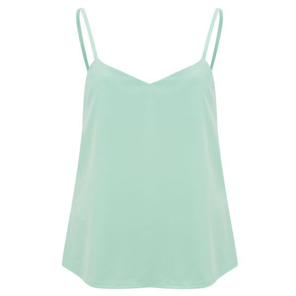 Vero Moda Women's Palm Drop Back Top - Green