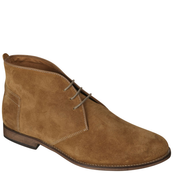 These attractive, handmade men's leather chukka boots by Gokey are built to perform. Details Handcrafted in Tipton, Missouri by Gokey's master shoemakers, these men's suede out leather chukka boots are a rugged and handsome complement to any outfit.