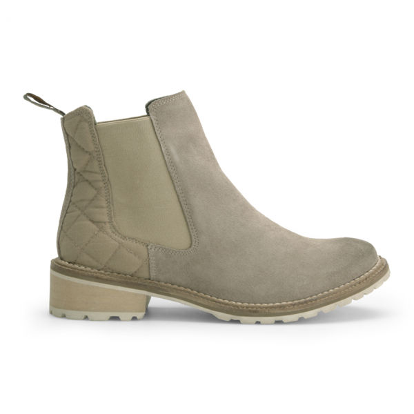 Barbour Women's Loriner Quilted Suede Chelsea Boots - Sand