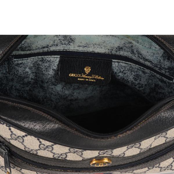 3ac3d10738edb Gucci Vintage Leather Trim Monogram Canvas Shoulder Cross Body Bag  Image 5