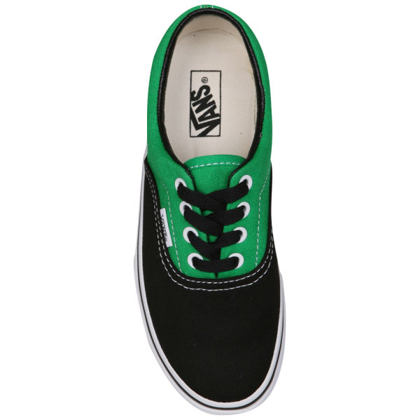 Vans Kids  ERA Canvas Two Tone Trainers - Black Bright Green  Image 4 0eaeade46073