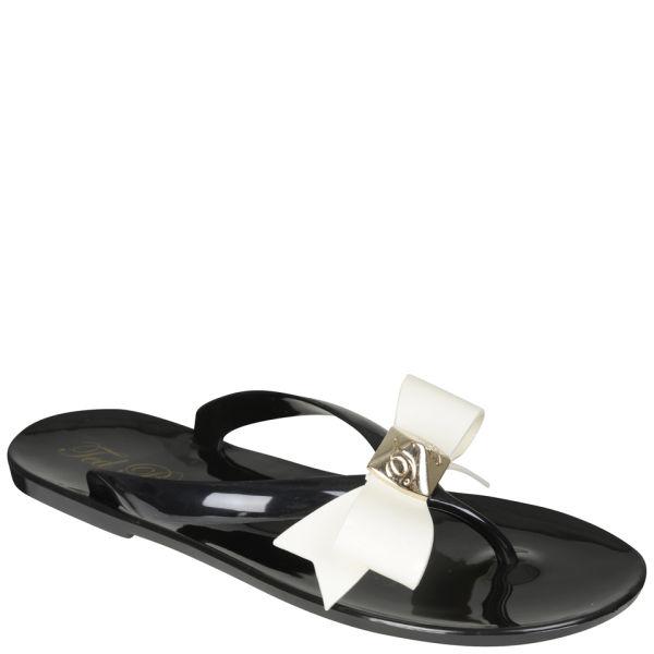 Ted Baker Women's Polee Bow Detail Flip Flops - Black/Cream