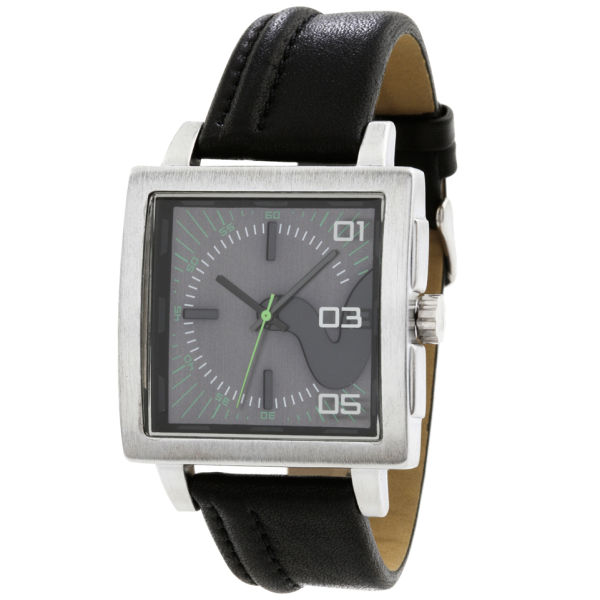Voi Men S Square Dial Black Strap Watch Clothing Thehut Com