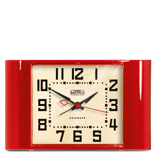 Newgate Mini Metro Clock - Red