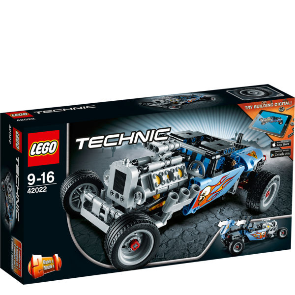 lego technic hot rod 42022 toys. Black Bedroom Furniture Sets. Home Design Ideas