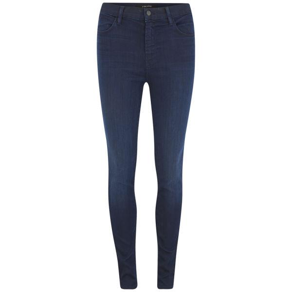 J Brand Women's Maria High Rise Dark Blue Skinny Jeans - Darkness