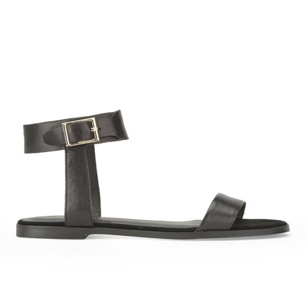 KG Kurt Geiger Women's Maddox Flat Leather Sandals - Black