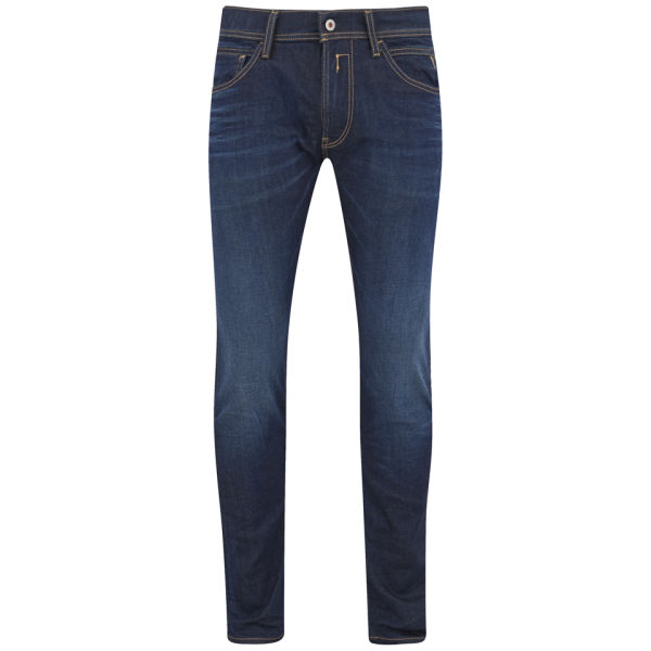 REPLAY Men's Indigo Super Stretch Skinny Jeans - Dark Wash Mens ...
