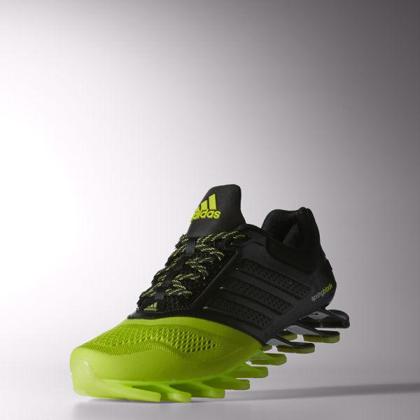 Adidas uomini springblade drive 2 scarpe nere / giallo sport