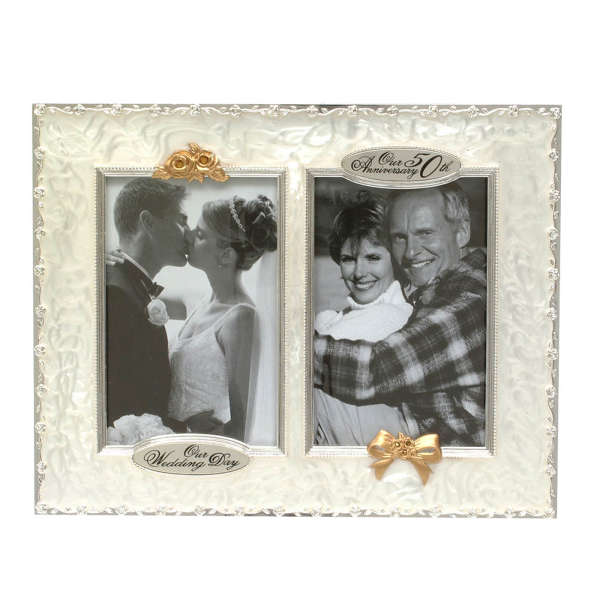 50th Wedding Anniversary Then And Now Picture Frame Iwoot