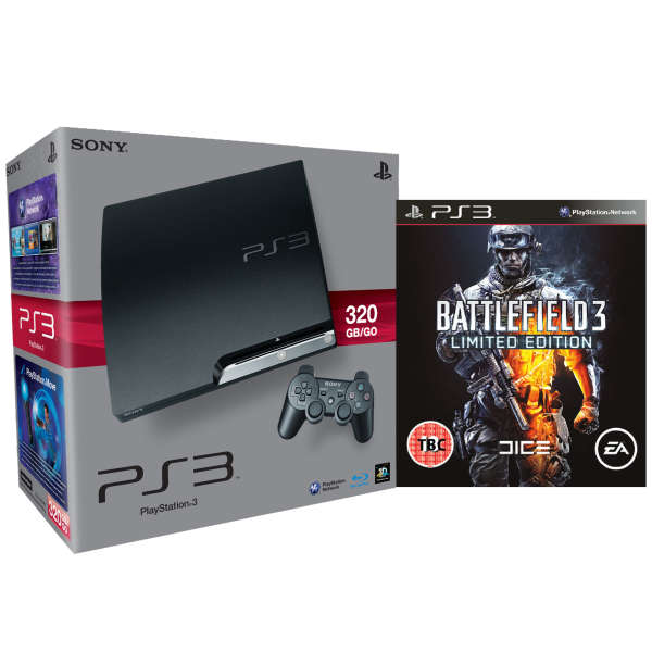 Playstation 3 ps3 slim 320gb console bundle includes battlefield 3 limited edition games - Ps3 limited edition console ...