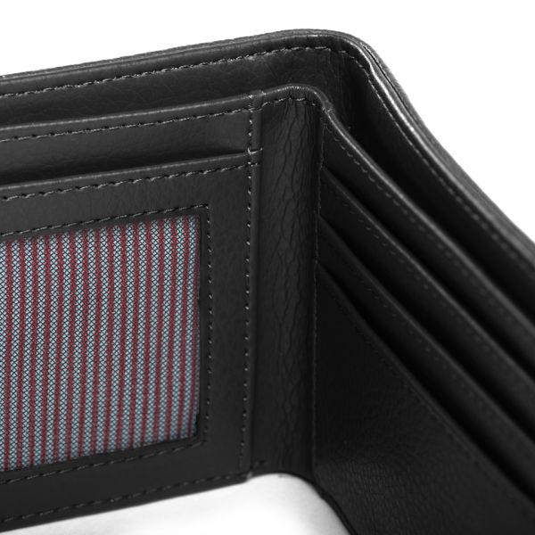 af49598a3229 Herschel Supply Co. Hank Leather Wallet - Black Pebbled Leather  Image 3