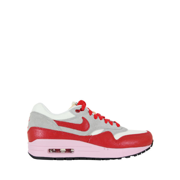 Nike Women's Air Max 1 Vintage Trainers - Sail Grey & Hyper Red