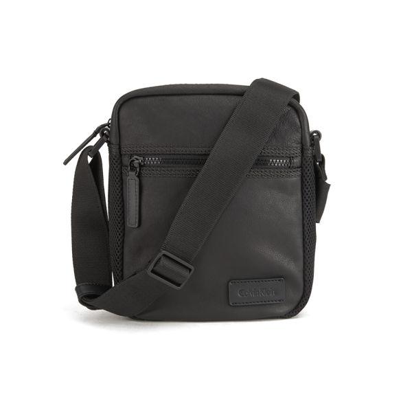 aabb2bac20ab Calvin Klein Men s Jimmy Leather Crossbody Bag - Black  Image 1