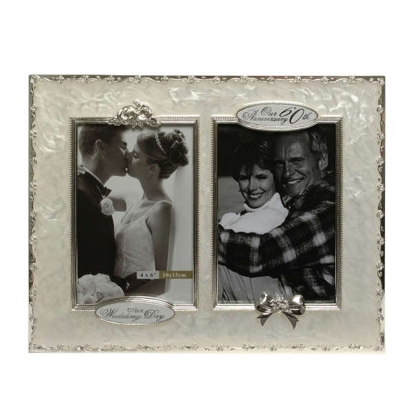 60th Wedding Anniversary Then And Now Picture Frame Iwoot