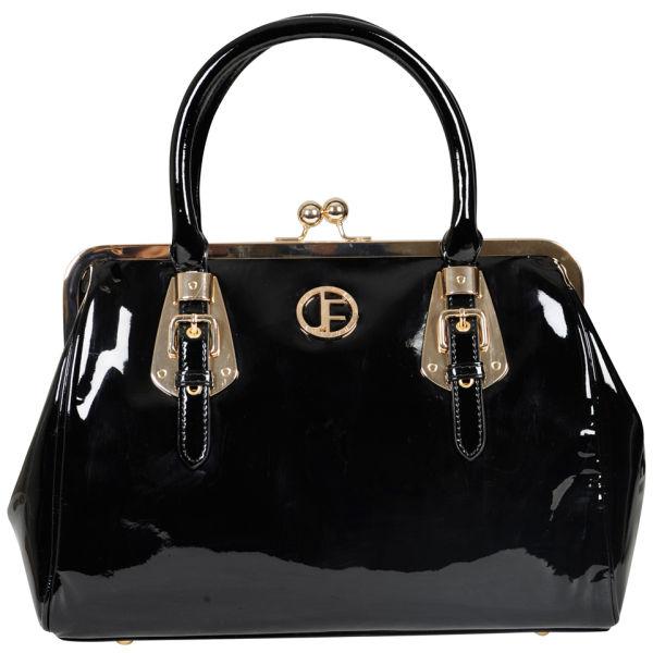 jack french women 39 s 39 the knightsbridge 39 leather frame grab bag black snake womens accessories. Black Bedroom Furniture Sets. Home Design Ideas