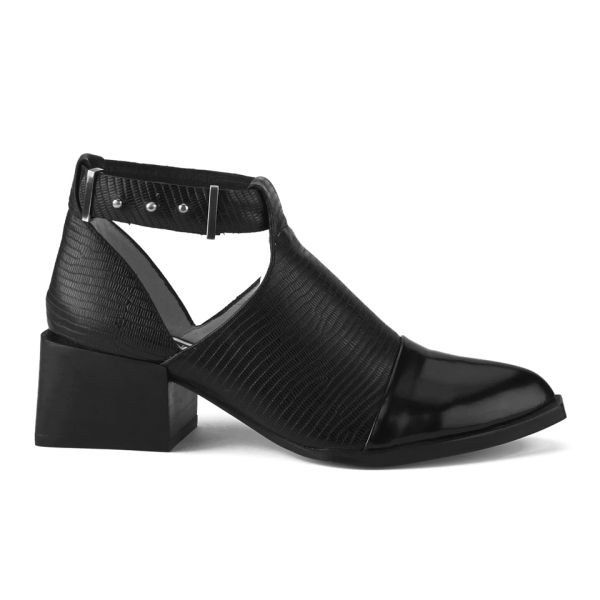 Senso Women's Mae II Hi-Shine/Lizard Heeled Ankle Boots - Black