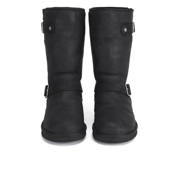 UGG Women's Sutter Waterproof Leather Buckle Boots - Black: Image 2