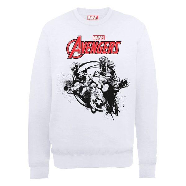 Buy Cheap Release Dates Discount Cheap Price Mens Avengers Assemble Team Burst Long Sleeve Sweatshirt MARVEL 100% Authentic Cheap Price Cheap Sale Original Sale Countdown Package y27LHIG