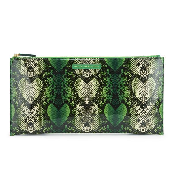 Marc by Marc Jacobs Annabelle Snake Print Clutch Bag - Fresh Grass Multi