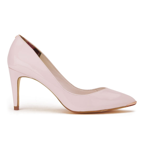 9564ed5d0c Ted Baker Women s Monirra Patent Vintage Pointed Court Shoes - Light Pink   Image 1
