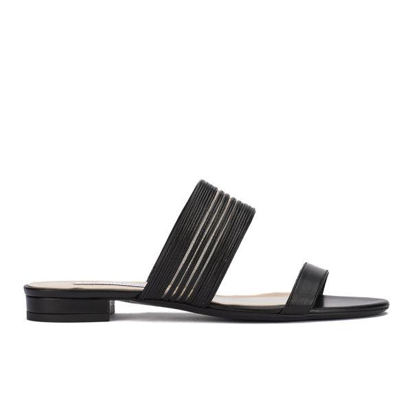 Diane von Furstenberg Women's Flavia Two Part Leather Sandals - Black/Nude