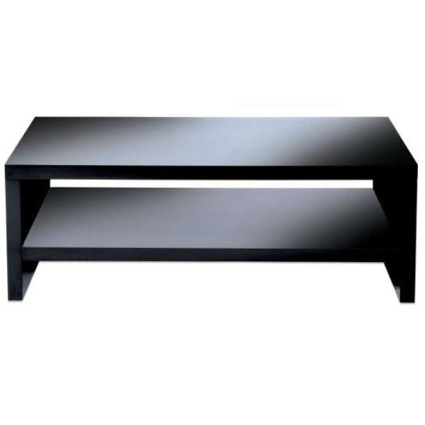 Levv Black High Gloss Tv Stand For Up To 50 Inch Tvs