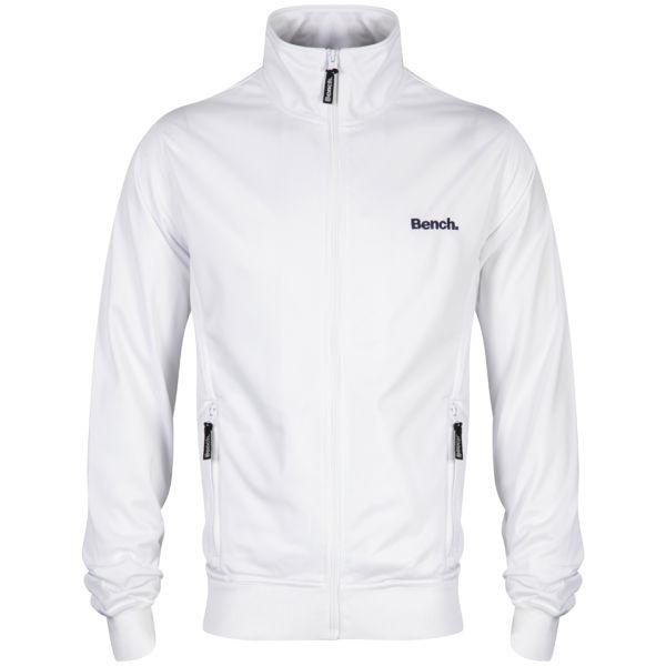 Bench Men S Classic Corp Track Jacket White Clothing Zavvi
