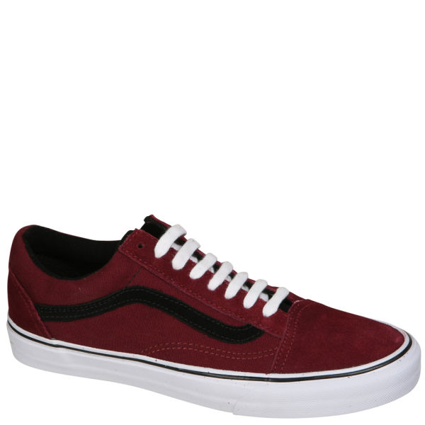 Vans Old Skool Suede/Canvas Trainers - Port Royale/Black