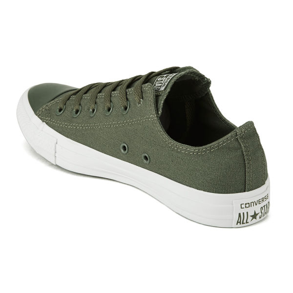 d9cf45c3bdf720 Converse Men s Chuck Taylor All Star OX Tonal Plus Trainers - Surplus Green   Image 5