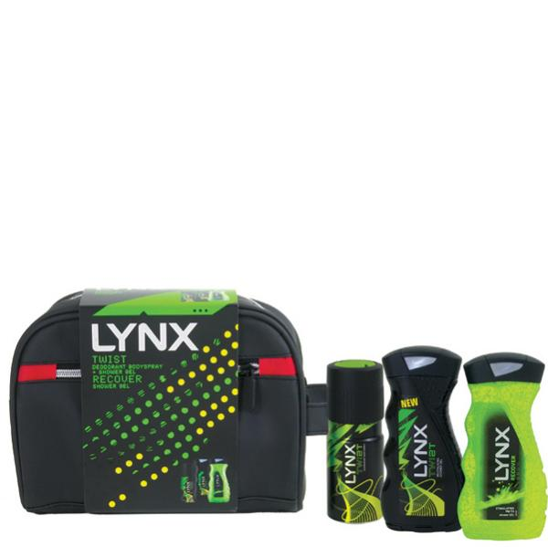 Lynx Twist Washbag Gift Set Deodorant Bodyspray Amp Shower