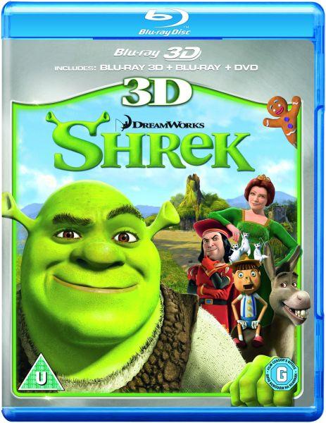 Shrek 3D (3D Blu-Ray, 2D Blu-Ray and DVD) Blu-ray | Zavvi