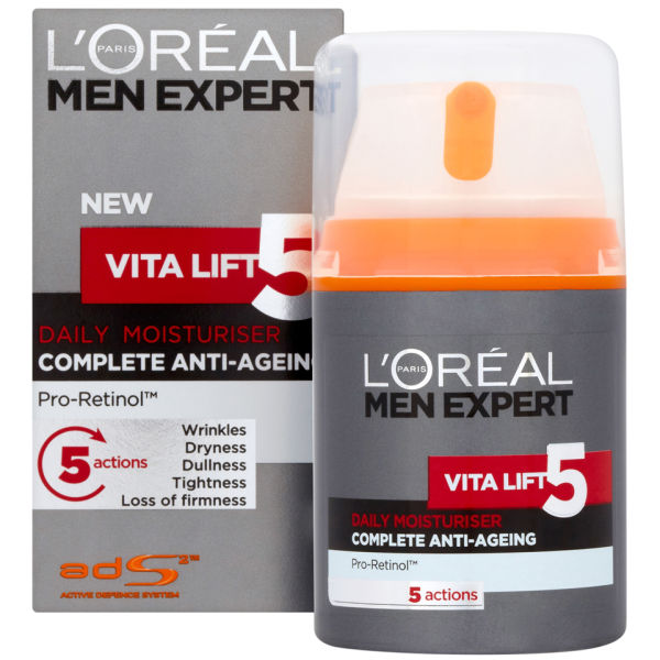 l 39 oreal paris men expert vita lift 5 daily moisturiser 50ml buy online mankind. Black Bedroom Furniture Sets. Home Design Ideas