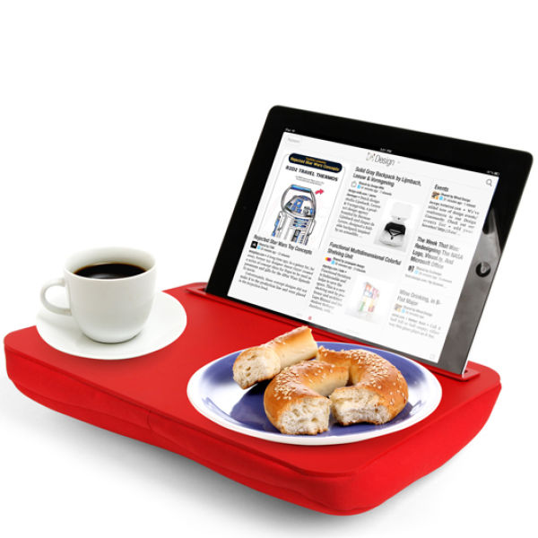 ibed cushioned portable lap desk tray red iwoot. Black Bedroom Furniture Sets. Home Design Ideas