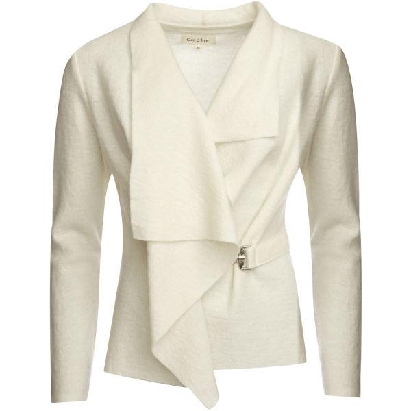 GROA Women's Boiled Wool Jacket - Winter White